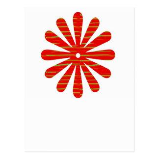 Artist created RED Shade GREEN Streak - SPARKLE Postcard