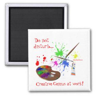 Artist Creating-Humor Magnet