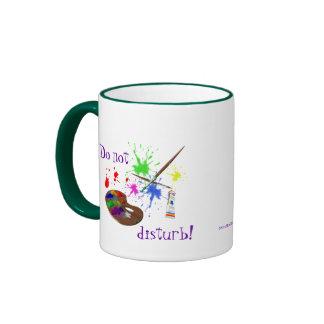 Artist Creating-Humor Ringer Coffee Mug