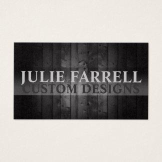 Artist Custom Design Black Wood Business Card