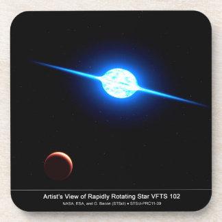Artist Depiction of Fastest Rotating Star VFTS 102 Beverage Coaster