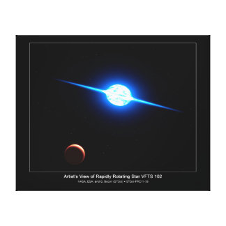 Artist Depiction of Fastest Rotating Star VFTS 102 Canvas Print