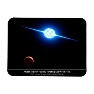 Artist Depiction of Fastest Rotating Star VFTS 102 Rectangular Photo Magnet