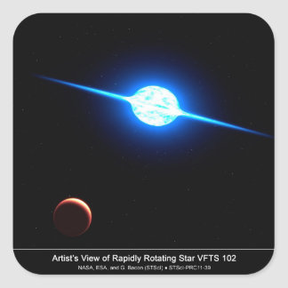 Artist Depiction of Fastest Rotating Star VFTS 102 Square Sticker