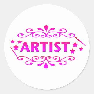 Artist Design Classic Round Sticker