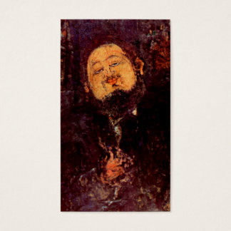 Artist Diego Rivera portrait painted by Modigliani Business Card