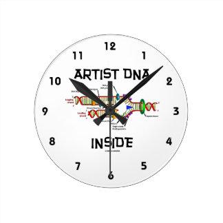 Artist DNA Inside (DNA Replication) Round Clock