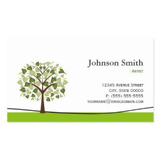 Artist - Elegant Wish Tree Business Card Template