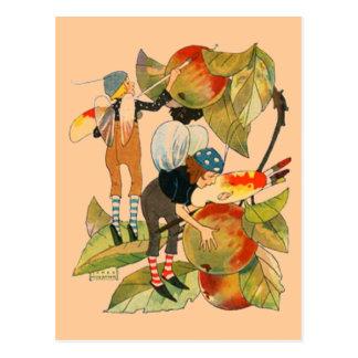 Artist Faeries Painting Fruit Postcard