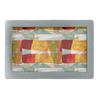 ARTIST fashion FABRIC Collage Pattern:  LOWPRICE Rectangular Belt Buckle