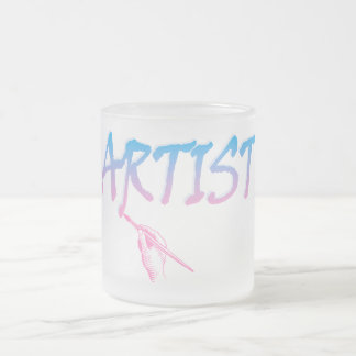 Artist Frosted Glass Coffee Mug