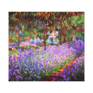 Artist Garden Monet Fine Art Canvas Print