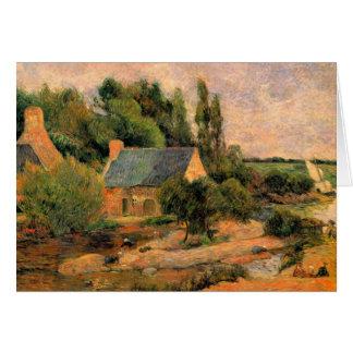 Artist Gauguin landscape painting Pont-Aven France Greeting Card