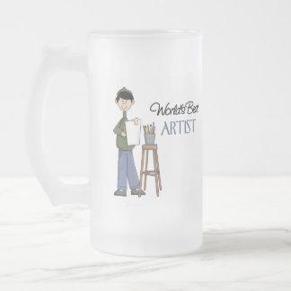Artist Gift 16 Oz Frosted Glass Beer Mug