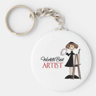 Artist Gift Basic Round Button Keychain
