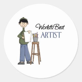 Artist Gift Classic Round Sticker