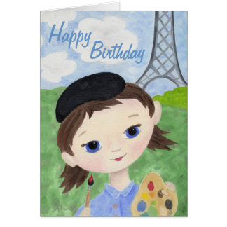 Artist Girl birthday card