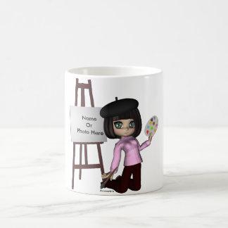 Artist Girl Easel Mug