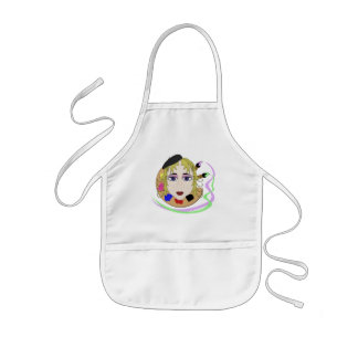 Artist Girl With Blue Eyes Kids' Apron