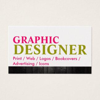 Artist Graphic Design Wood Metal Business Card