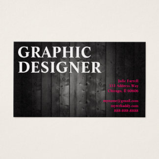 Artist Graphic Design Wood Plank Business Card
