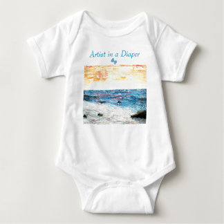 Artist in a Diaper, Little Ocean Beach Infant Creeper