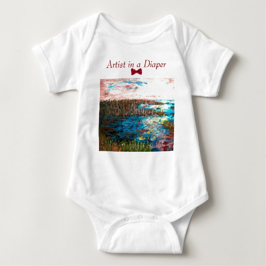 Artist in a Diaper, Saltmarsh Baby Bodysuit