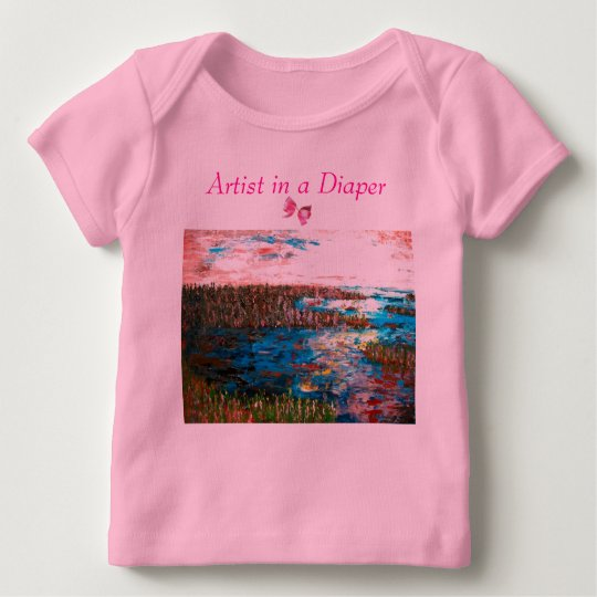 Artist in a Diaper, Saltmarsh Baby T-Shirt