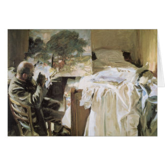 Artist in His Studio by Sargent, Vintage Fine Art Card