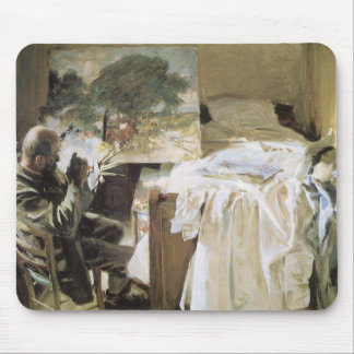 Artist in His Studio by Sargent, Vintage Fine Art Mouse Pad