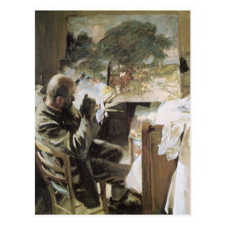 Artist in His Studio by Sargent, Vintage Fine Art Postcard