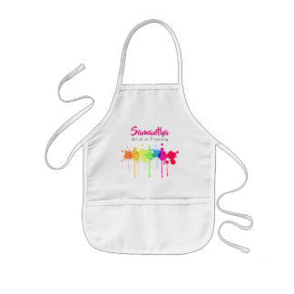 Artist in Training Kid's Apron Pink