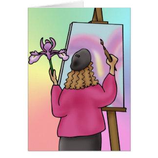 Artist inspiration greeting card