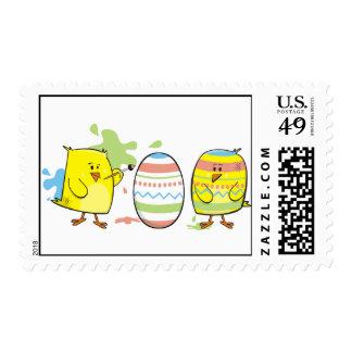 Artist little chicken stamp