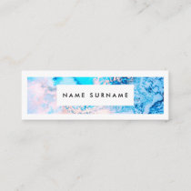 Artist Marble Pink Watercolor Mini Business Card