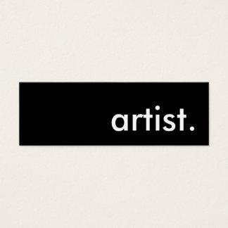 artist. mini business card
