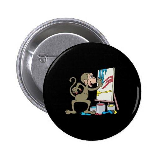 artist monkey button