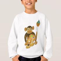 Artist Monkey Sweatshirt