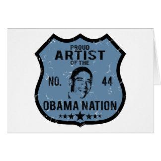 Artist Obama Nation Card
