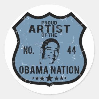 Artist Obama Nation Classic Round Sticker