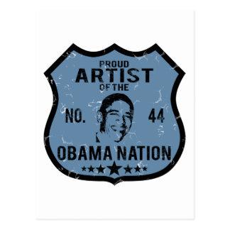 Artist Obama Nation Postcard
