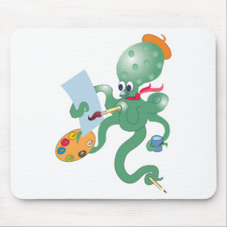artist octopus mouse pad