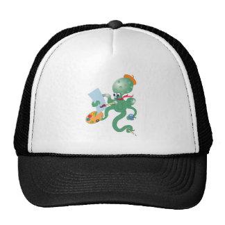 artist octopus trucker hat