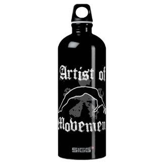 Artist of movement tumbling aluminum water bottle