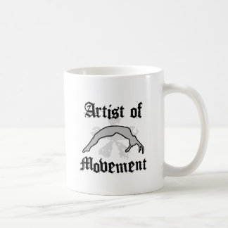 Artist of movement tumbling coffee mug