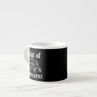 Artist of movement tumbling espresso cup