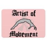 Artist of movement tumbling flexible magnet