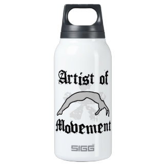 Artist of movement tumbling thermos bottle