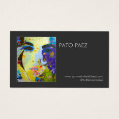 Artist Or Photographer Photography Black Photo Business Card at Zazzle