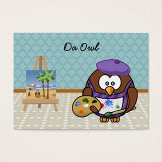 artist owl business card
